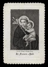santino incisione 1800 S.ANTONIO DA PADOVA koppe