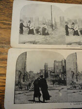 2  SAN FRANCISCO EARTHQUAKE 1906 Stereoviews