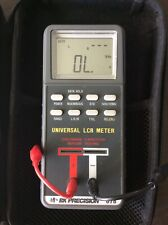 B&K Precision 878 Digital Universal LCR Meter w/alligators BK Ohmmeter Test