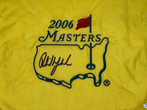 Phil Mickelson signed 2006 Masters Flag JSA Z91074 (1)