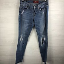 Lucky Brand Women's 2 / 26 Light Wash Charlie Skinny Fit Distress