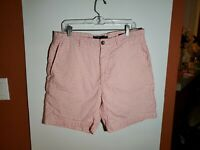 Vineyard Vines Breaker Shorts Mens 34 Pink White Checkered Cotton Polyester