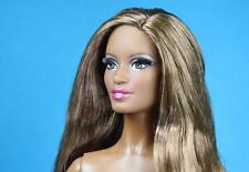 Barbie City Shine Model 5 Pazette Face  Brunette Hair Nude 2015 AA Muse Body