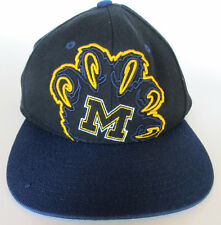 ae22d868f6f Michigan Wolverines SnapBack Trucker Hat Cap Claw Paw Logo Blue Gold Wool  Blend