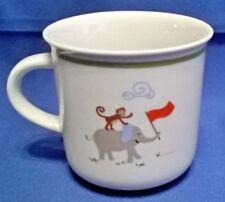 FAO SCHWARZ JOURNEY PORCELAIN BABY CUP MONKEY, ELEPHANT AND GIRAFFE