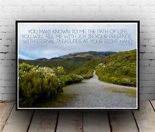 Christian Inspirational Poster - Psalms 16:11 - Path Joy Eternal - ALL SIZES