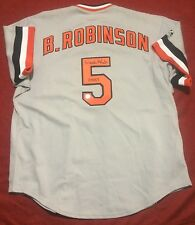 Brooks Robinson autographed Majestic baseball jersey Baltimore Orioles SCHWARTZ