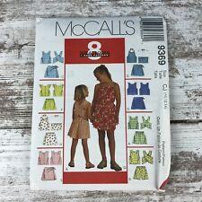 McCalls 9369 Tie Halter-Criss Cross Pinafore Top-Shorts Skorts Pattern 10 12 14