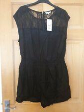 New Look - Ladies - Black Playsuit - Size 14 - New