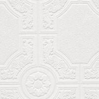 Metallic Silver Norwall Wallcovering CS35629 Medallion Wallpaper Beige