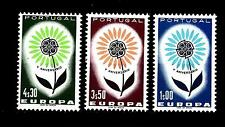 PORTUGAL - PORTOGALLO - 1964 - Europa - Fiore con 22 petali. 3 val. Serie