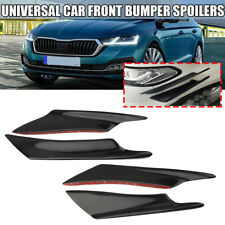 4pcs Black Car Front Bumper Fins Body Splitter Spoiler Canards Universal