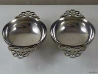 Pair of Antique Solid Sterling Silver Quaichs / Whisky Cups - Hallmarked 1920