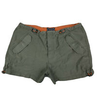 American Eagle Womens 6 Khaki Cargo Hiking Shorts Cotton Pockets Army Green