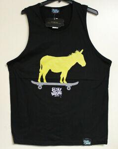 Filthy Dripped Mens Donkey Skateboard Graphic Black Sleeveless Tank Top Shirt XL