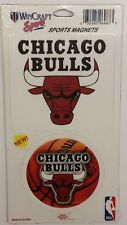 NBA Chicago Bulls 2 Piece Die Cut Magnet Set, NEW