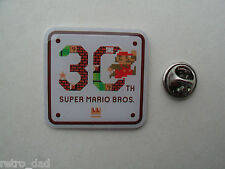 Nintendo Super Mario Bros 30th Anniversary RARE Promo METAL PIN BADGE Pins NES
