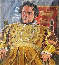 Richard Sprick 1901-1968 /Porträtgemälde Heinrich George als König Heinrich VIII