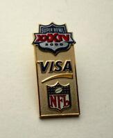 Super Bowl XXXIV 34 NFL Football Visa Sponsor Rams Greatest Show on Turf Pin New
