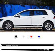 Black For Volkswagen Golf 7 MK7 Rocker Side Skirt Stripe Body Sticker Decals