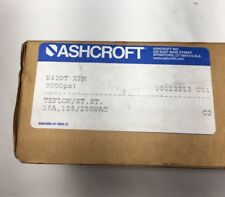 NEW ASHCROFT B420T XFM PRESSURE SWITCH   RANGE:3000 PSI  PROOF: 12000 PSI Teflon
