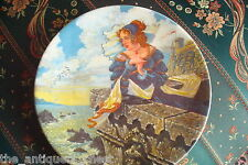 """Longton Crown Pottery of Stoke on Trent collector plate """"The Franklin's Tale""""[2r"""
