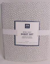 Pottery Barn PB Teen Dorm Mini Dot twin or XL twin sheet set, light gray, polka