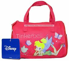 "JAPAN CITY CORP 6.75"" x 4.5"" DISNEY TINKERBELL Purse/Bag FUCHSIA Barrel NEW! 1/9"