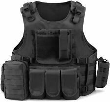 Gonex Tactical MOLLE Military Airsoft Paintball Vest Modular Adjustable Vest
