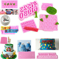 3D Silicone Alphabet Letter Number Fondant Mould Cake Topper Mold Decor Tool DIY