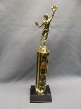 BASEBALL outfielder trophy theme column plastic base