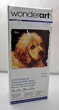 "Puppy Love WonderArt Caron Latch Hook Kit 12""x12"" Complete Kit-Hook Included"