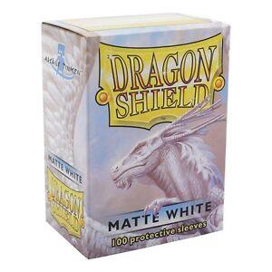 Matte Dragon Shield Standard Size Card Protector Sleeves MTG 100ct White box