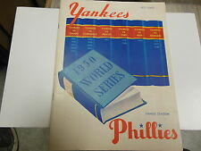 1950 WORLD SERIES PROGRAM PHILADELPHIA PHILS NEW YORK YANKEES CHAMPIONSHIP MLB