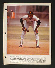 1973 Willie McCovey San Francisco Gaints Baseball French Photo Sheet Voltigeur