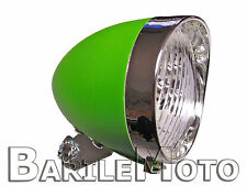 Fanale / Faro / Luce Anteriore Verde 3 LED Bici Sport - City Bike - Fixed