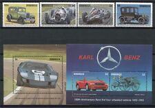 DOMINICA 1993 Autos Cars Oldtimer Automobile 1687-90 + Bl.234-235 ** MNH