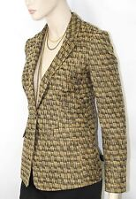 $995 Burberry London 6 8 40 Women SISAL Cotton Silk Jacket Blazer Coat Lady B