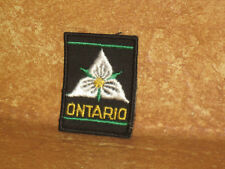 Boy Scouts Ontario Canada Badge Patch Embroidered Sew On Scout Black White Green