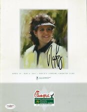 Nancy Lopez Signed Jsa Certed 2001 Program Autograph