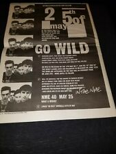 The 25th Of May Go Wild Rare Original Uk Promo Poster Ad Framed!
