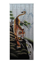 Bamboo Beaded Curtain Hand Painted-Tiger