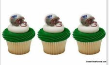 Patriots New England CupCake Cake Topper 24 Favors Decoration NFL Football