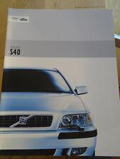 Volvo S40 range brochure May 2002
