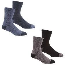 Mens 4 pares de calcetines de salón suave con suelas de agarre/Calcetines zapatilla tacón de contraste