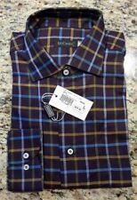 St. Croix mens Sz L plum dark purple button down shirt collared long sleeve