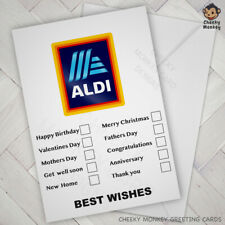 FUNNY CHRISTMAS Birthday VALENTINE Wedding CARD Joke GENERIC Male Female ALDI