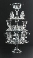 Reproduction 18th Century Tiered Glass Syllabub Stand With 17 Glass Accessories