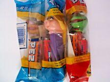 Vintage Kermit, Miss Piggy, Fozzie Pez dispenser NIP