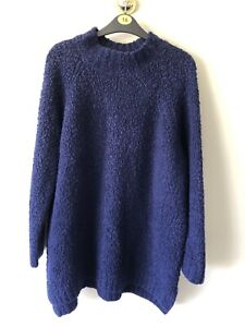 GEORGE NAVY SOFT BOBBLE KNIT JUMPER - SIZE 16-18